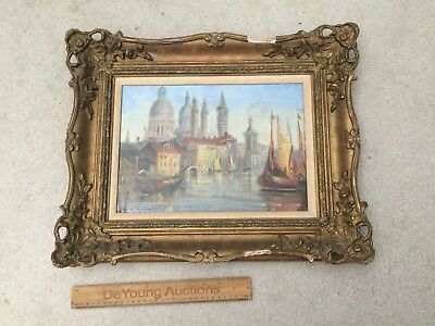 ORIGINAL OIL ON CANVAS by William Meadows (1825 - 1901) Venice Art Painting