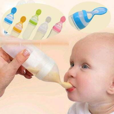 90ml Infant Baby Feeding Bottle With Spoon Feeder Food Rice Cereal Bottle