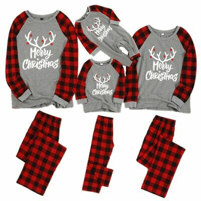 Christmas Family Pajamas Set Matching Outfits Sleepwear Parent-child Suit Gift