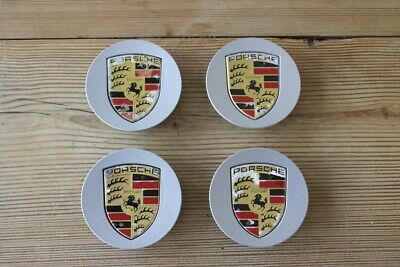 Porsche Wheel centre caps Genuine 911 Boxster, Cayman Cayenne Silver set of 4