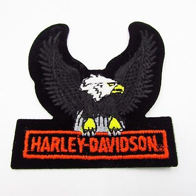 "Vintage Harley Davidson Eagle Wing Patch NOS Retired Authentic 2 3/4"" X 3"""