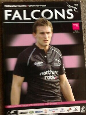 Newcastle Falcons Rugby union programme v Leicester Tigers 2009