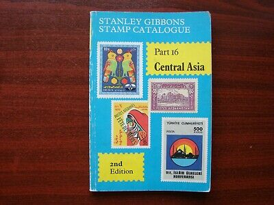 Stanley Gibbons vintage stamp catalogue No 16 Central Asia 2nd edition 1983