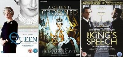 Royal DVD Collection The Queen (2007), A Queen is Crowned & The Kings Speech