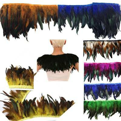 Multicolor Chicken Rooster Tail Feather for Dress Skirt DIY Craft Feather Trims_