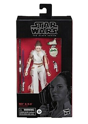 Star Wars the Black Series Rey & D-O Droid 6 inch Rise of Skywalker IN HAND NEW