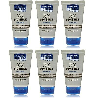 6 pezzi Neutro Roberts Men GEL X INVISIBLE Capelli acconciatura 150 ml