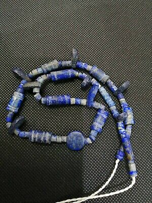 ancient Lapis Neckless Roman Glass Beads Ancient Roman Beads Afghani Jewery RARE