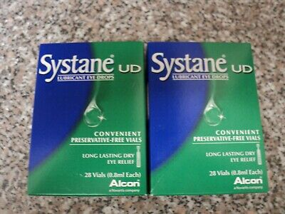 Brand New 2 Boxes Systane Eye Drops For Dry Eyes Contact Lens