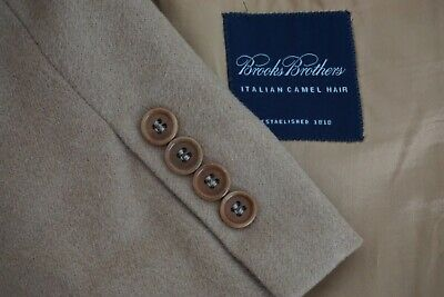 Brooks Brothers Italian Camelhair Light Brown Soft Sport Coat Jacket Sz 43R