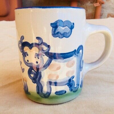 M.A. Hadley Cow Pottery Mug Tea Coffee Cup The End Inside Farm Country Kitchen