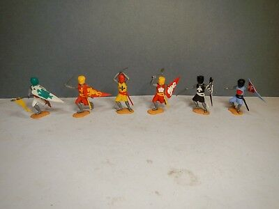 Timpo 1st Series Medieval knights Complete Set of 6 on foot