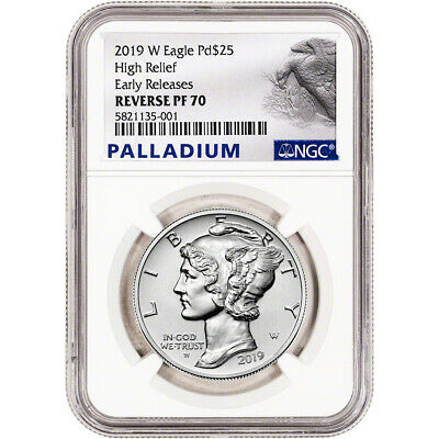 2019-W American Palladium Eagle Reverse Proof 1 oz $25 - NGC PF70 Early Releases