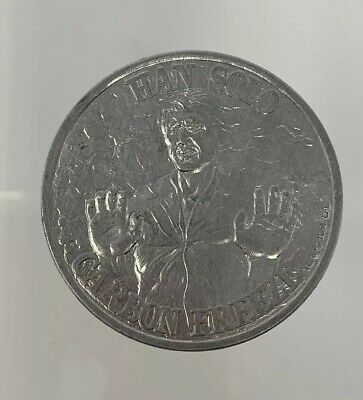 Vintage Star Wars Coin Han Solo Carbonite 1984 Power Of The Force Last 17 Kenner