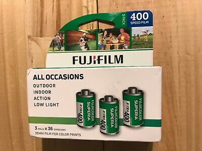3 Pack Fuji Superia X-TRA CH ISO 400 36 Exp. 35mm Color Film, USPS,POSTAL,POD