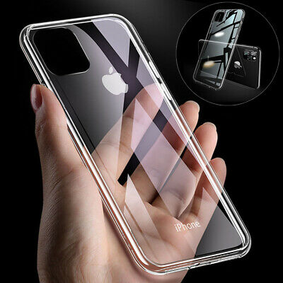 360 CLEAR Case For iPhone 11 Pro XS Max XR X 8 7 Plus Cover Silicone Shockproof