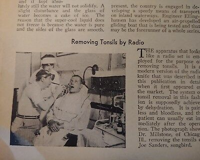 Oct 1930 Magazine Page #A141- Removing Tonsils By Radio- Painless / Bloodless