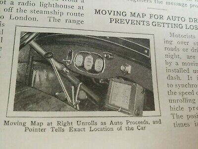 Mar 1929 Magazine Page #A198- Moving Map- The First Auto Driver Gps