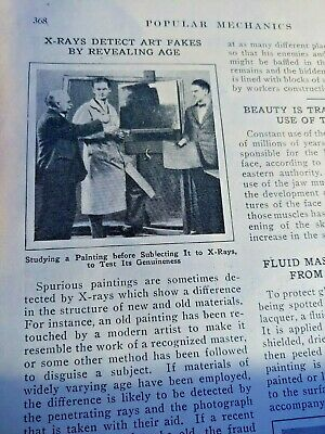 Mar 1929 Magazine Page #A209- X-Rays Detect Art Fakes By Revealing Age