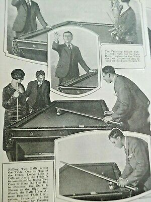 Mar 1929 Magazine Page #A197- Tricks Of The Billiards Table- 3 Pgs