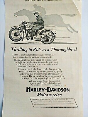 Mar 1929 Magazine Page #A187- Harley-Davidson Motorcycles- Thrilling To Ride