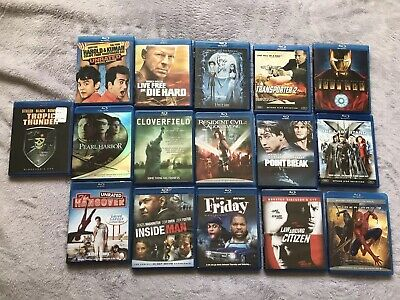 16 Blu Ray Movies Lot Marvel Action Iron Man XMen Spiderman Hangover Friday