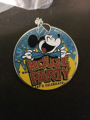 Disney Parks Collection Pin Mickey Mouse 90th Birthday Party Let's Celebrate NEW