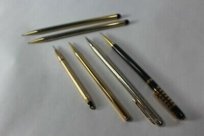 Vtg Unbranded Mechanical Pencils Gold Sliver & Black Lot Estate Sale