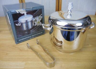 International Silver Company Ice Bucket w/Tongs #99110575 In Box