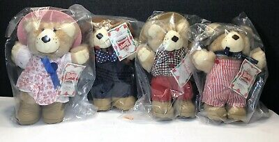 1986 Wendy's Holiday FURSKINS BEARS NWT And Packaging