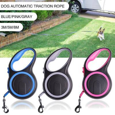 Durable Retractable Dog Lead Extending Leash Tape Cord 3m 5m 8m Max 50kg NEW
