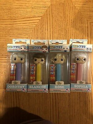 Funko POP Pez The Golden Girls Full Set Of 4 Blanche Rose Sophia & Dorothy