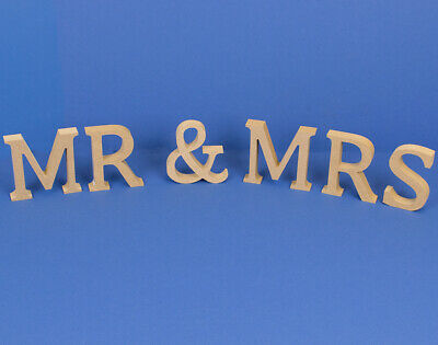 Large 13cm Wooden MDF 'Mr & Mrs' Letters to Decorate   Wood Shapes for Crafts