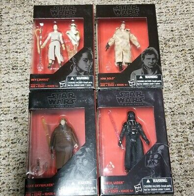 STAR WARS Black Series 3.75 inch Luke Skywalker, Darth Vader, Han Solo & Rey