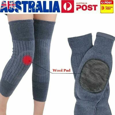 Heater Knee Warmer Sleeves Kneecap Wool Leg Sleeve Winter Warm Thermal AU D