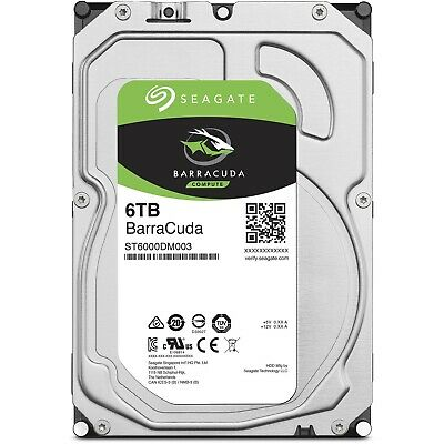 "Seagate BarraCuda Internal Desktop PC Hard Drive HDD 3.5"" 6TB SATA 5400RPM 256MB"