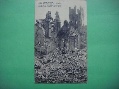 IEPER - YPRES - Ruins of the cathedral and the beftry -Ruines Cathédrale Beffroi