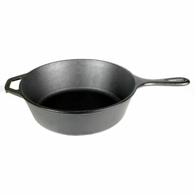 "Lodge Logic L8DSK3 Pre Seasoned Cast Iron 10.25"" Diameter 3"" Deep Skillet"