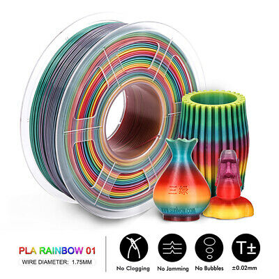 SUNLU 3D PLA Rainbow Printer Filament 1.75mm 1kg Spool Rainbow Printer Material