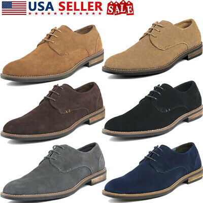 BRUNO MARC Mens Oxfords Shoes Classic Casual Lace up Suede Leather Shoes 6.5-15