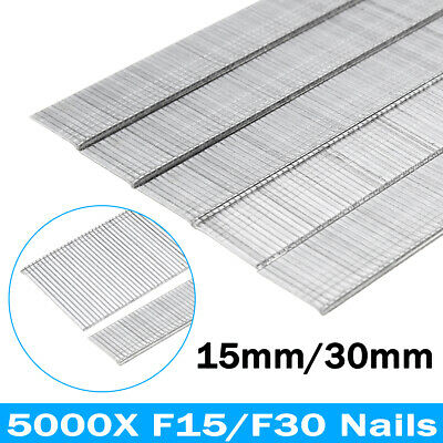5000Pcs 15mm 30mm Gauge Straight Nails Penumatic Strip For Staple Gun Air Nailer