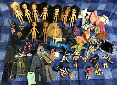 Large lil Bratz Micro Doll Bundle  Inc Boyz Clothes Shoes Bags And More