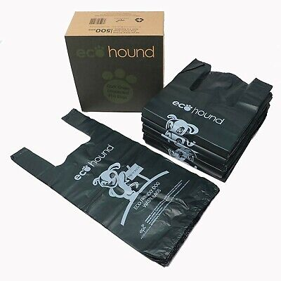 Ecohound 500 Large Thick Premium Quality Dark Green Dog Waste Bags With Easy ...