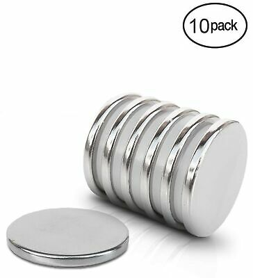10 pcs N52 Super Strong Disc Magnets 20mm x 3mm Rare-Earth Neodymium Magnets