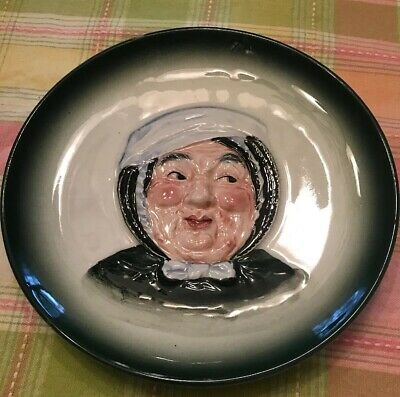 Antique Hanging Plates Hal-Sey  Fifth Japan Portrait Toby 8 Inch Plate FREE SHIP