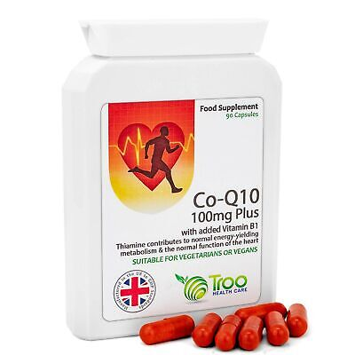 Co-Enzyme Q10 Supplement (CoQ10) - 100 milligrams 90 Vegetarian Capsules - Na...