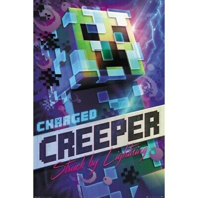 Minecraft Charged Creeper POSTER 61x91.5cm NEW struck by lightning
