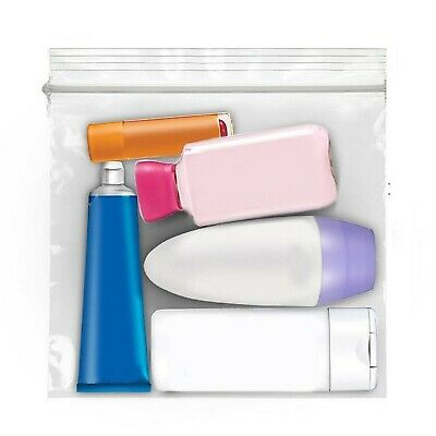 Travel Security Clear Liquid Bag for Airport Security and Cosmetics, Perfume,...