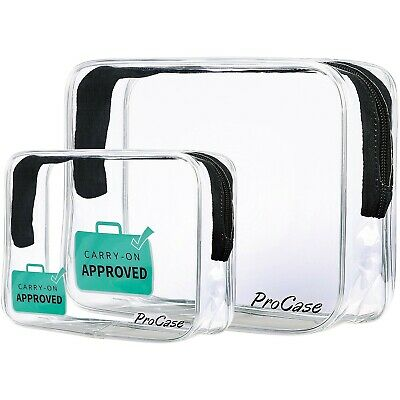 ProCase TSA Approved Liquid Bag Clear Toiletry Bag for Airport Flights Travel...