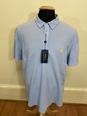 NEW NWT $85 Polo Ralph Lauren Featherweight Mesh Shirt Mens XL Blue w/ Pony